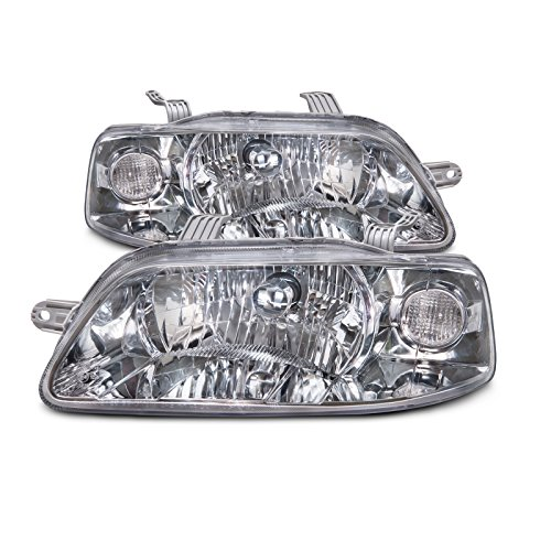 (Headlights Depot Replacement for Chevrolet Aveo Front Headlight Assembly Set Pair New Headlamps)