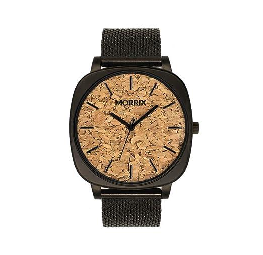 Morrix - Reloj de Madera para Hombre y Mujer (Corcho)