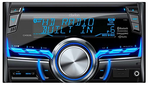 Clarion CX505 2-Din HD Radio/Bluetooth/CD/USB/MP3/WMA Receiver Clarion Car Stereo