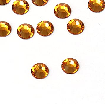 BrillaBenny 1400 Strass termoadhesivos Aurum Oro Tachuelas Minas Gold Vintage DmC MC Quality HOTFIX Rhinestone Crystal Glass