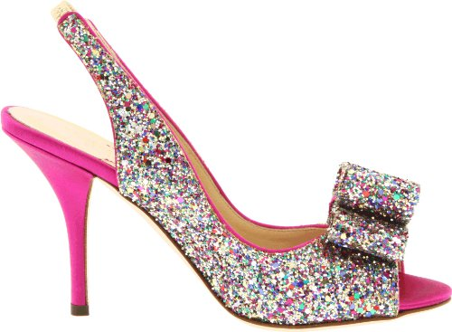 Multi Slingback Sparkle kate Charm new Pink york spade Hot Glitter Women's Pump X0Xaq