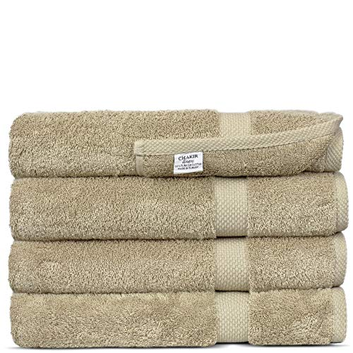 Luxury Premium Turkish Ring-Spun Cotton 4-Piece Bath Towels (Driftwood)