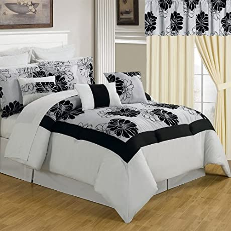 Lavish Home 66 00011 24pc Q 24 Piece Room In A Bag Madison Bedroom Set Queen