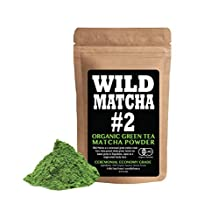 Organic Matcha Green Tea Powder, Wild Matcha #2 Ceremonial Grade, Authentic Japanese Matcha Grown In The Mountains of Kyoto, Japan, JAS Certified Organic (4 ounce)