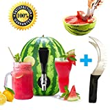 Watermelon Tap, Combo Kit coring Tool included, BONUS Black Slicer Natural Keg Parties, Home Brewing, Tapping Watermelon, Pumpkins,Pineapples,For Cocktails,Beer,Mead,Beverages By BTOOL (Deluxe Slicer)