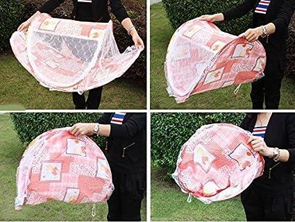 Rose LAAT Tente Moustiquaire B/éb/é Pliant Matelas anti-insecte protection portable lit de voyage b/éb/é moustiquaire avec petit matelas