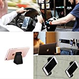: Cell Phone Stand | iPhone 7 Plus Stand | iPhone X Car Holder,iPhone Sticky Pad for all Android Smartphone and iPhone,Gel Pads,Nano Pad,Stick to Anywhere&Holds Anything(Black- 2 Units)