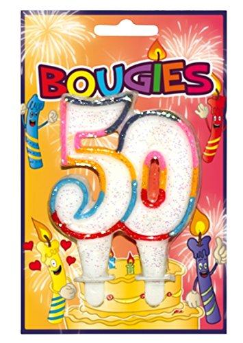 Vela de cumpleaños () 1 o 2 cifras multicolor 8 años: Amazon ...