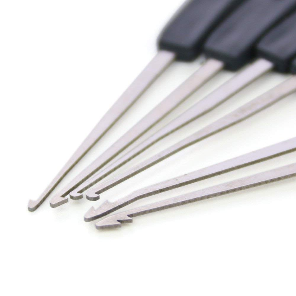 Loboo Idea Juego de herramientas de llave de tensi/ón de 5 piezas de cerrajer/ía y cerrajer/ía