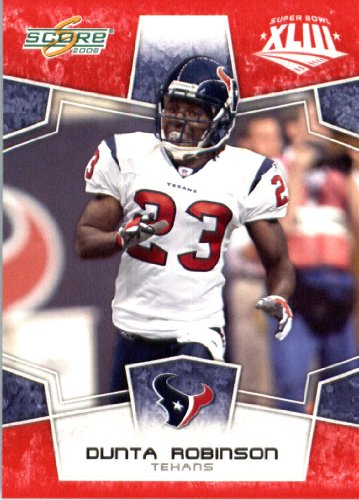 2008 Score Red SuperBowl Edition Football Card IN SCREWDOWN CASE #125 Dunta Robinson ENCASED ()