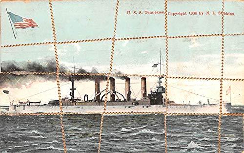 Uss Tennessee Battleship - Military Battleship Postcard, Old Vintage Antique Military Ship Post Card USS Tennessee Unused