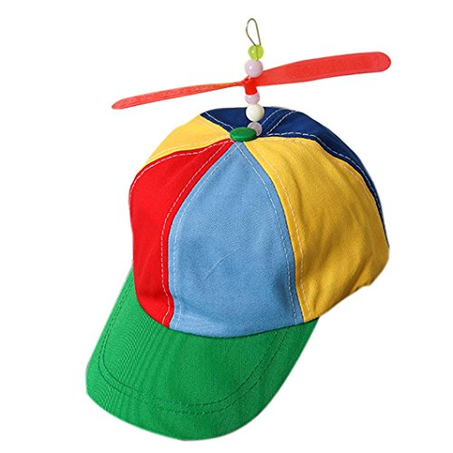 Dartphew Toys,Dartphew 1Pcs Magical Propeller Cap Hat - Helicopter Rainbow Pride Party - Kuso Fancy Dress - Nerd, Multi-Color - Fashion,Great Gift for Kids Baby Children Boys Girls(Size:56-58cm) ()