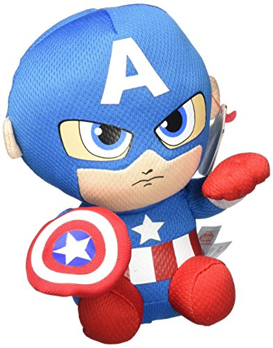 Captain+America Products : Ty Captain America Plush, Blue/Red/White, Regular