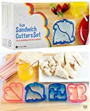 StarPack Kids Sandwich Cutter Set of 4 - Sandwich and Bread Crust Cutters in 4 Cute Shapes & Bonus 101 Cooking Tips