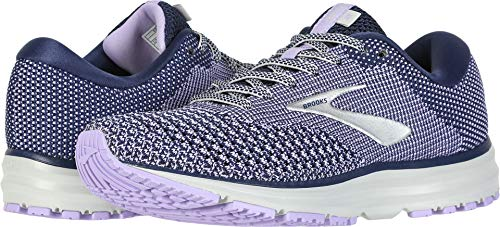 Brooks Women's Revel 2 Blue/Purple Rose/Grey 5 B US by Brooks (Image #3)