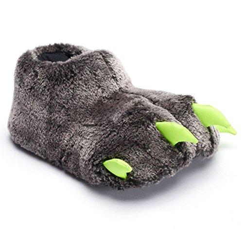 Boys Bear Claw Slippers Medium/Large 2/3