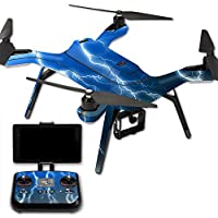 MightySkins Protective Vinyl Skin Decal for 3DR Solo Drone Quadcopter wrap cover sticker skins Lightning Storm