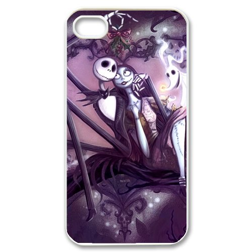 Creative Funny Picture of Jack Sally The Nightmare Before Christmas iPhone 4 4S New Style Durable Plastic Case Cover by Christmas Ltd.