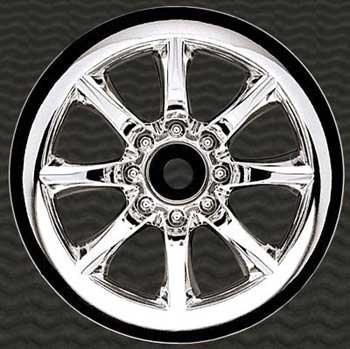 Front Agitator Wheel, Chrome (2): Jato, NST, NRU by Pro-Line