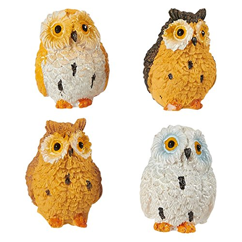 Owl Figurines   Pack Of 8 Mini Owl Resin Figurines  Fairy Garden Accessories  Owl Decor Ornaments Perfect For Children  Indoor And Outdoor Decor  Multicolor  1 37 X 1 X 1 Inches