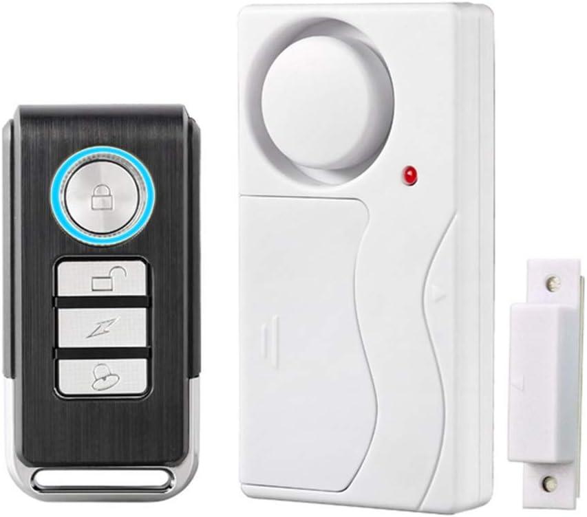 HENDUN Wireless Remote Door Alarm, Windows Open Alarms,Magnetic Security Sensor, Pool Door Alarm for Kids Safety, Entry Chime,Apartment Alarm (1 Pack)