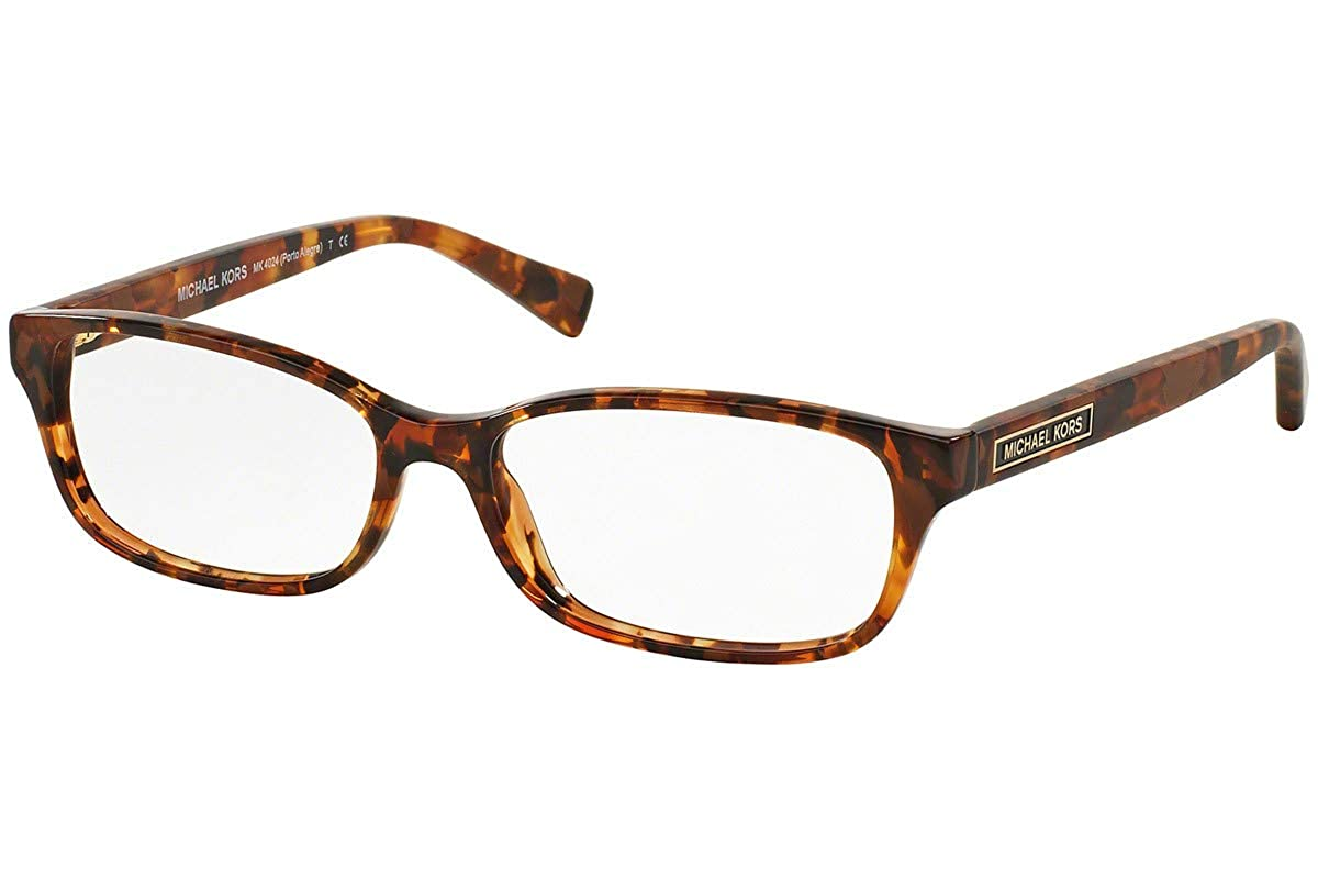 f0972d5ad0 Michael Kors MK4024F Eyeglass Frames 3066-55 - Brown Tortoise at Amazon  Women s Clothing store