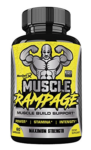 Muscle Pump Amplifier (Mengenix - Muscle Rampage - Muscle Build Support - Increase Power-Stamina-Intensity- Build Muscle, Boost Power and Stamina)