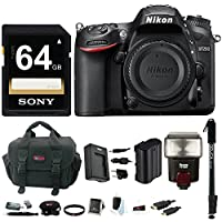 Nikon D7200 DSLR Camera (Body Only, Black) with Flash and Sony 64GB Bundle Noticeable Review Image