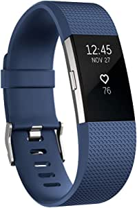Fitbit Charge 2 Heart Rate + Fitness Wristband, Blue, Small (International Version)