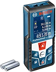Bosch Professional Laserafstandsmeter GLM 500 (werkbereik: 0,05–50 m, hellingbereik: 0 – 360°, meetnauwkeurigheid: ±1,5 mm, 2x batterij AAA, in kartonnen doos)