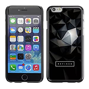 Planetar® ( 3D Polygon Text Art Dark ) Apple (5.5 inches!!!) iPhone 6+ Plus / 6S+ Plus Fundas Cover Cubre Hard Case Cover
