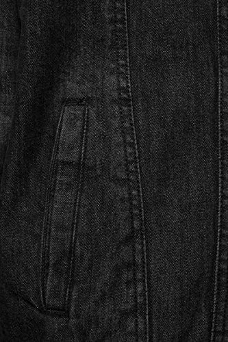 Black Hombre Classics Urban 709 Schwarz Chaqueta Jacket para Denim Sherpa Washed Y6q48