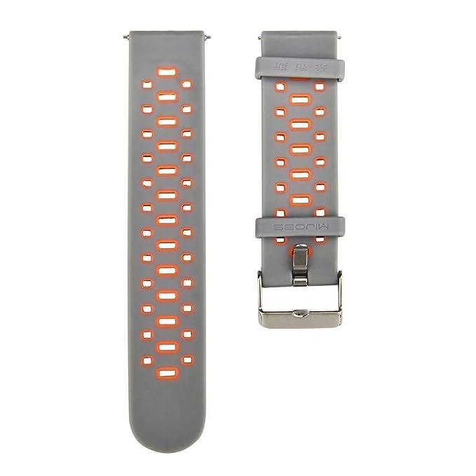 ... Pulseras de Repuesto Correa para la muñeca con Banda de Reloj de Silicona Suave de ventilación Ligera Muñequeras Wristband: Amazon.es: Ropa y accesorios