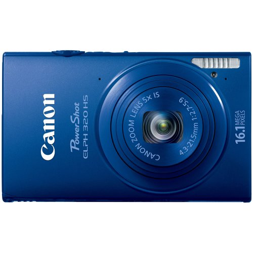 Cheap Canon PowerShot ELPH 320 HS 16.1 MP Wi-Fi Enabled CMOS Digital Camera with 5x Zoom 24mm Wide-Angle Lens with 1080p Full HD Video and 3.2-Inch Touch Panel LCD (Blue)