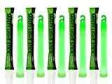 12 Ultra Bright Glow Sticks - 6' Emergency Light Sticks for Camping, Parties, Hurricane Supplies, Earthquake, Survival Kit and More - Lasts Over 12 Hours (Green)