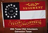20th Regiment CSA Texas Volunteers 3'X5′ Cotton Flag For Sale