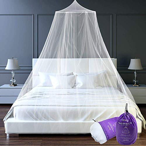 Great Features Of Htovila Universal White Dome Mosquito Mesh Net Easy Installation Hanging Bed Canop...