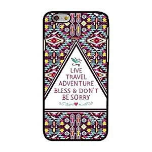 QJM Live Travel Adventure Style Plastic Hard Back Cover for iPhone 6