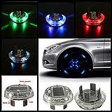 AUDEW Car 12 LED Solar Energy Flash Wheel Light Auto 4 Colours Tire Lamp Decoration Light