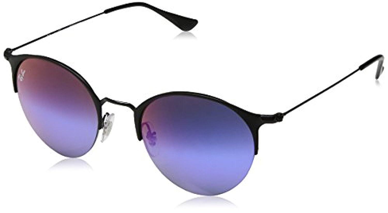 629a43a3c Amazon.com: RB RB3578 Black/Matte Black/Green Mirror Blue Gradient Vio 50mm  & Carekit: Clothing