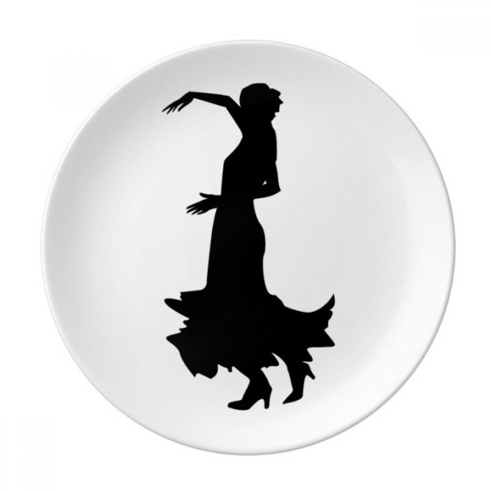 Performance Folk Dance Dancer Dessert Plate Decorative Porcelain 8 inch Dinner Home