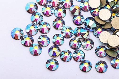 BLINGINBOX Nail Rhinestones 1440PCS SS20 8 big 8 small Cut Facets Glitter Rhinestone Flatback Glass Crystal AB Non Hot Fix Rhinestones Nail Art Decorations