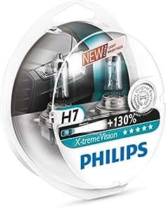 Philips 12972XVS2 X-treme Vision - Bombilla H7 +100% para faros delanteros (2 unidades) [Por un tiempo limitado, el producto con un rendimiento de + 130 % (2 bombillas)]
