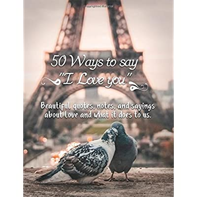 Ways to Say I Love You Book