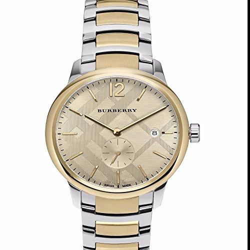 Burberry 2 Piece (Burberry Men's Swiss The Classic Round Two-Tone Stainless Steel Bracelet Timepiece 40mm BU10011)