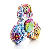 STRESS SPINNER Colorful Camo Fidget Tri Hand Spinning Finger Toy Stocking Stuffer for ADHD EDC Focus Relieves Anxiety and Boredom