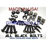 NEW 2006 2007 Gsx-r 600 750 Black Complete Fairing Bolts Screws Fasteners KIT USA