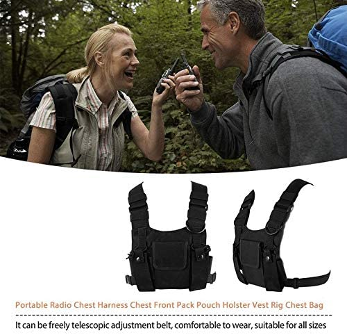 ouying1418 Portable Radio Chest Harness Chest Front Pack Pouch Holster Vest Rig Chest Bag: Amazon.es: Electrónica