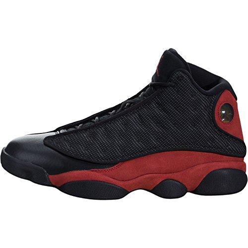 Air Jordan 14 Retro Sneakers (Jordan Air 13 Retro Mens Lifestyle Fashion Sneakers Black/True Red-White New 414571-004 - 14)