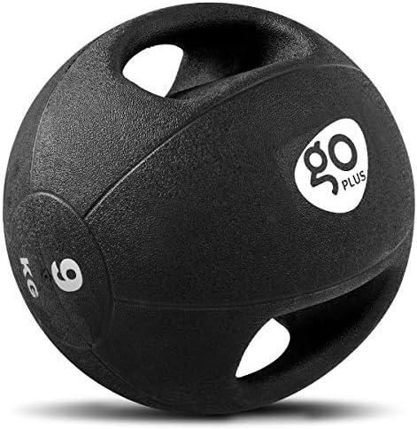GOPLUS M/édecine Ball avec Poign/ées Poids Ball M/édecine Fitness Poids Ballon /à Double Poign/ée pour La Musculation Functional Fitness Noir de Diff/érants Tailles